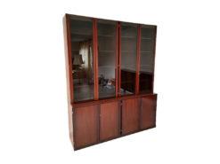 Display Cabinet, Real Wood Veneer, Vintage, 1970er