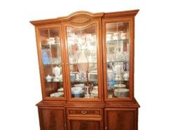 Display Cabinet, Midcentury, Solid Wood