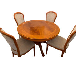 Dining Room Set, Round Table With Chairs, Cherry Wood