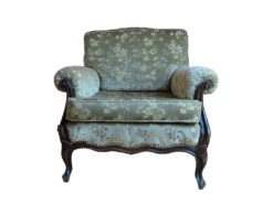 Green Antique Upholstered Armchair