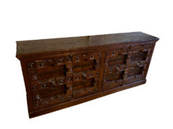 Antique Sideboard, Colonial/Empire Style, Solid Wood