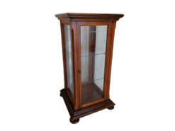 Antique English Shop Display Cabinet, Solid Wood