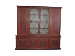Display Cabinet, Mahogany, Inlays