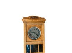 Grandfather Clock, Oak Wood, Midcentury