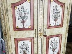 Painted Farmer's Cupboard, Solid Oakwood, Midcentury