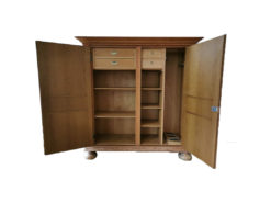Hunting Cabinet, Made of Solid Wood