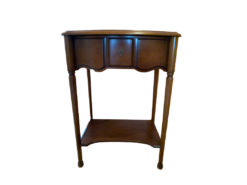 Antique Side Table, Solid Wood, Midcentury