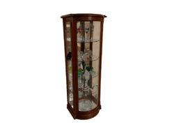 Glass Vitrine, Cherry Wood Frame