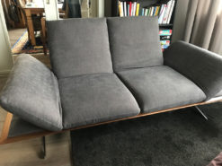 Grey 2-Seater Designer Sofa, Knoll