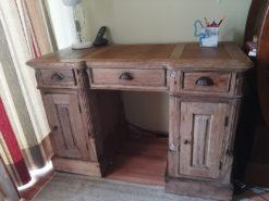 Desk, Vintage, Solid Wood, Used-Look
