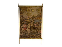 Handmade Tapestry In A Gold-Colored Frame