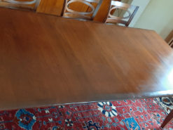 Extendable Dining Room Table, Cherry Wood