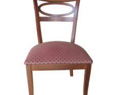 8 Upholstered Dining Room Chairs, Cherry Wood