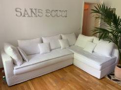 White Pull-Out 5-seater Corner Sofa, Maison Du Monde