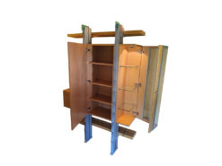 Omnia Cabinet With Glass Vitrine And Lighting
