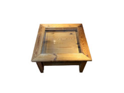Coffeetable, Solid Wood, Glass Surface