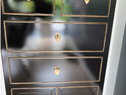 Black Chest Of Drawers, Art Deco Style