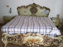Bed, 2 Nightstand, Baroque-Style