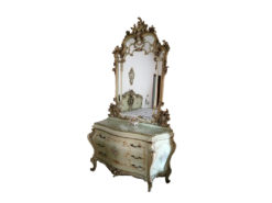 Dressing Table With Large Mirror, Baroque-Style
