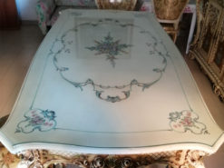 Dining Room Table, 4 Chairs, Baroque-Style