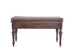 Antique Upholstered Bench, Storage, Solid Wood