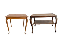 2 Side Tables, Solid Wood, Living-/Dining Room, Chippendale