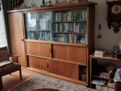 Bookcase, 50s, Study, Solid Wood, Handmade, Unique