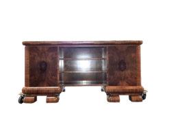 Antique Restored Desk, Solid Walnut Wood