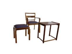 Antique Restored Furniture Set, Solid Walnut Wood