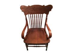 Armchair, Solid Wood, Floral Carvings