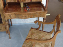 Secretary With Upholstered Chair, Solid Wood