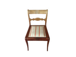 Upholstered Chair, Solid Wood, Midcentury