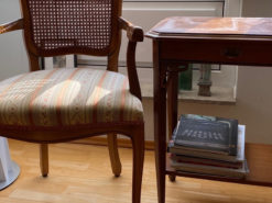Chair And Matching Side Table, Solid Wood
