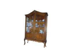 Warrings Display Cabinet, Solid Wood, Chippedale-Style