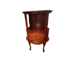 Round Commode, Solid Wood, Midcentury