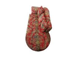 Red Ottoman, Floral Pattern, 190cm x 85cm