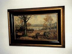 Painting, O. Berndt, 20th century, oil / wood., 27 cm x 48 cm