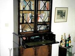 Bureau-Bookcase, Endland, 20th Century, Mahogany