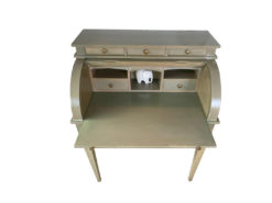 Green Secretary, Solid Wood, Midcentury