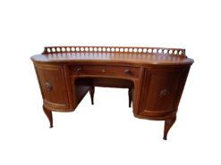 Art Deco Desk, Solid Wood, 1920s