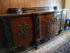 Antique Sideboard, Dark Brown, Solid Wood