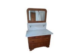 Antique Mirrorcommode, Solid Wood, Marble Top