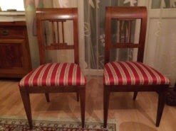 Upholstered Chairs, Biedermeier, Restored