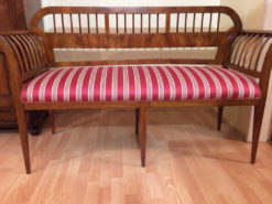 Upholstered Bench, Biedermeier, Restored