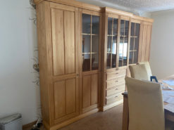 Living/Dining Room Cabinet, Solid Wood, Lightning