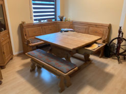 Kitchen Corner Bench, Table, Solid Wood