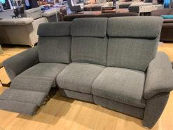 3-Piece Grey Electric Sofa Set, Living Room