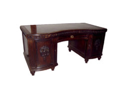 Desk, Solid Wood, Marble Surface