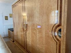 Art Deco Style, Desk And Cabinet, Birch, Walnut, 2014