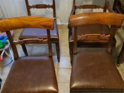 4 Chairs, Regency, Solid Wood